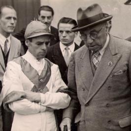 Enrico Camici con Federico Tesio